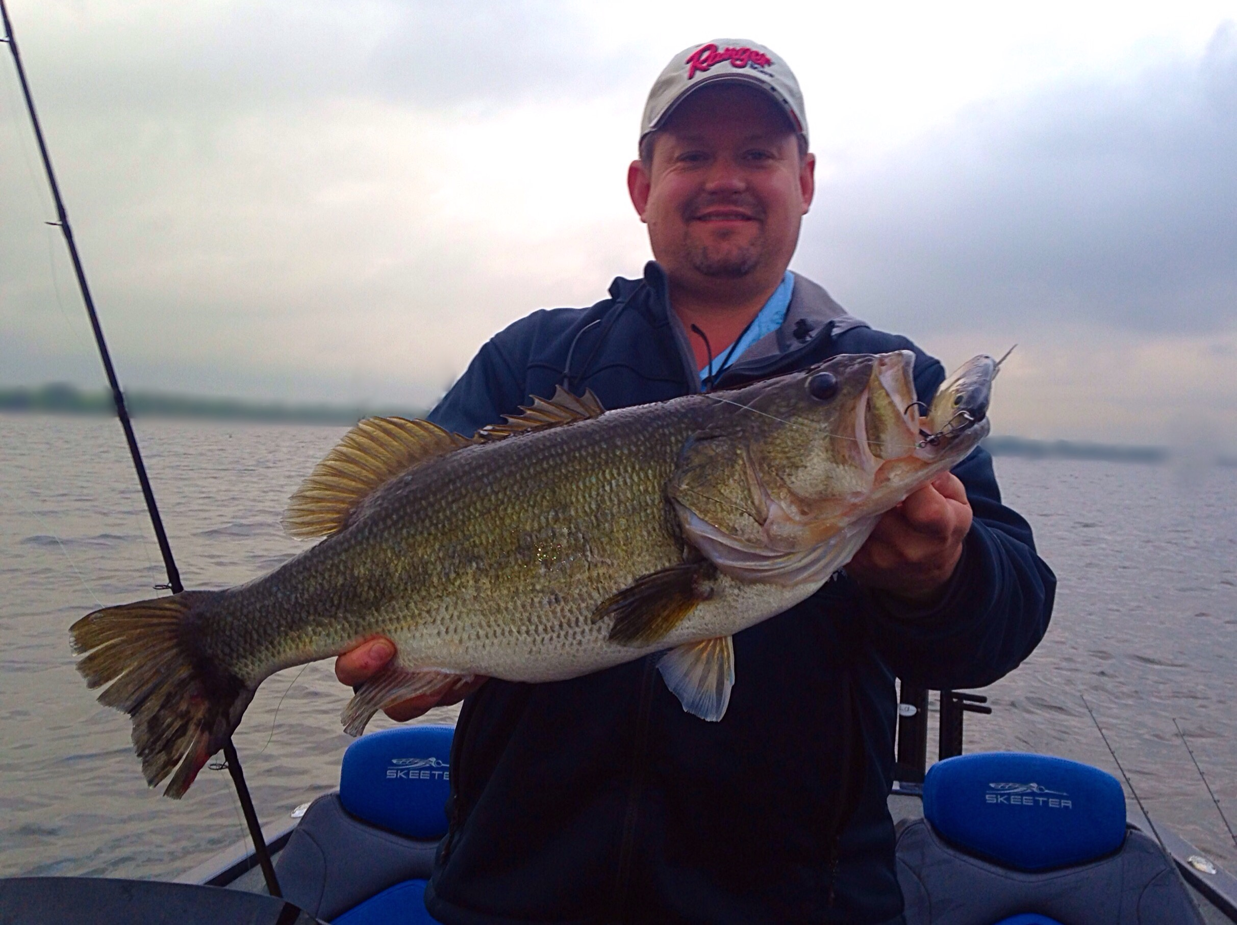 big bass under tough conditions on lake fork 4 22 16
